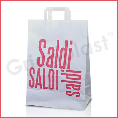Busta SALDI Ecoflex in Carta kraft Maniglia piatta